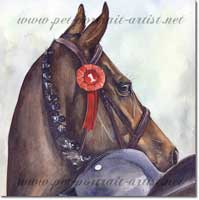 Equine Watercolour painting - Showtime