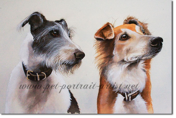 Double Portrait of Alfie and Luca, by Joanna Culley