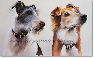 Double Portrait of Alfie and Luca by Joanna Culley