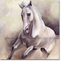 Painting of a Galloping Horse.